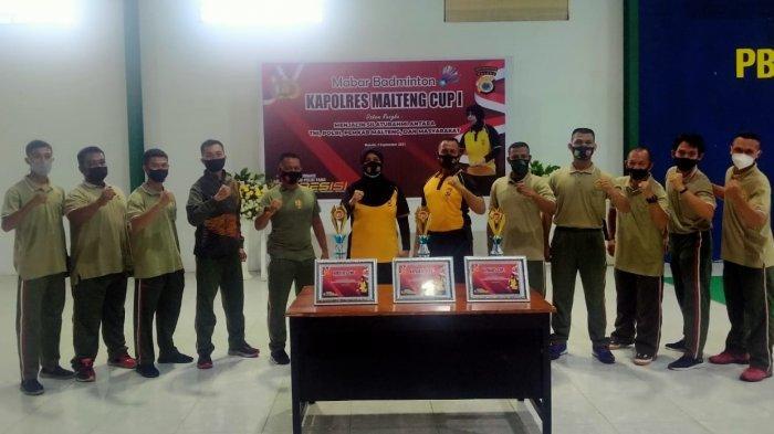 Badminton Jadi Trik Polres Maluku Tengah Rajut Kebersamaan TNI Polri dan Masyarakat
