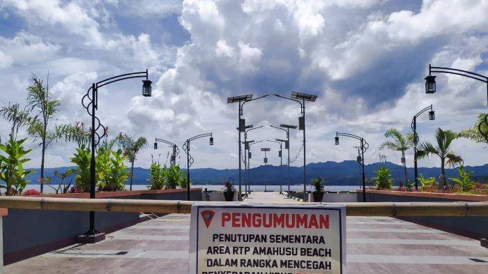 Cegah Penyebaran Virus Corona, Pesisir Pantai Kawasan Amahusu Ambon Ditutup