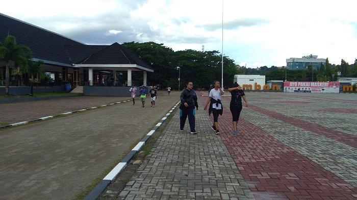 Cegah Klaster Baru, Pemkot Ambon Batasi Waktu Olahraga Warga di Lapangan Merdeka