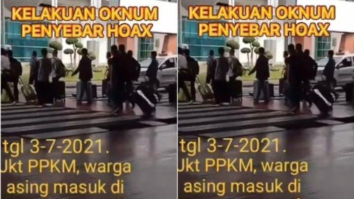 HOAKS Video Rombongan WNA di Bandara Soetta saat PPKM Darurat, PT Angkasa Pura II: Itu Framing