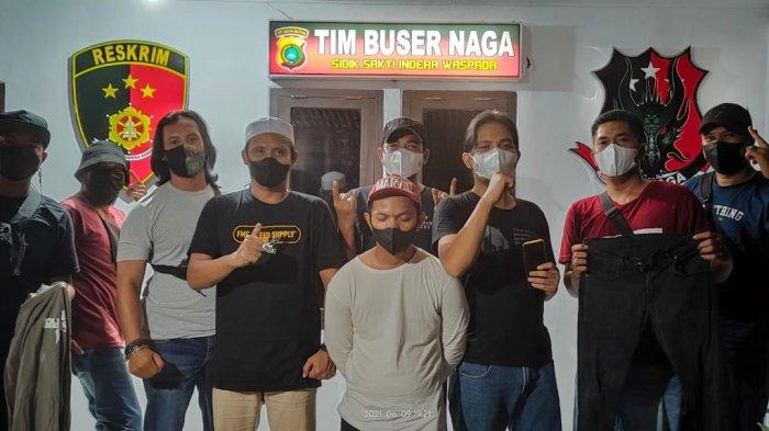 Armin alias Amin (30) diamankan Tim Naga Polres Pangkalpinang di Kontrakannya di Kelurahan Bukitintan, Pangkalpinang, Rabu (8/6/2021)