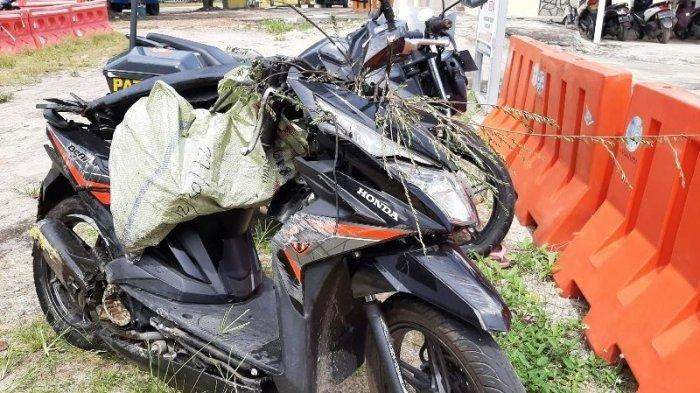 Kondisi Motor Korban Kecelakaan di Jalan Kenanga Atas, Koba, Bangka Tengah, tepatnya di Depan Apotik Sehat , Selasa 15 Juni 2021