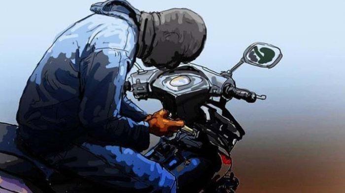 Pencuri Ini Gagal Bawa Kabur Motor, Sempat Kepergok Pegawai Toko Pakaian
