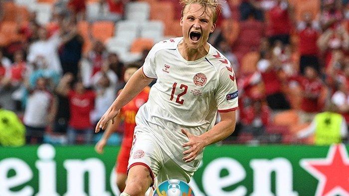 Denmark Ukir Rekor Tim Pertama di Euro Cetak 4 Gol, Menang Atas Wales Amankan Tiket Perempat Final