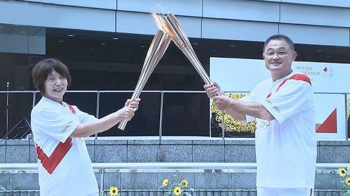 Obor Olimpiade Tiba di Titik Akhir Estafet di Tokyo, Dibawa Mengitari Jepang Selama 121 Hari