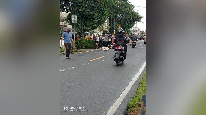 Kronologi Kecelakaan Maut di Cambai Bateng,Pemotor Tewas Setelah Tergelincir dan Terlindas Mobil
