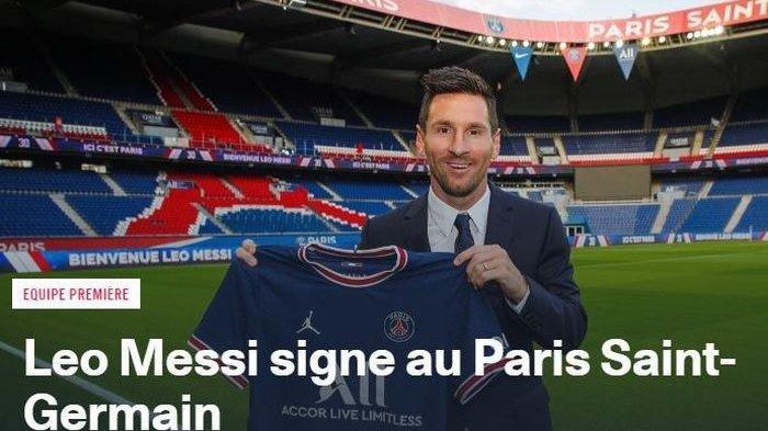 Nomor 30 Dipakai Lionel Messi Gabung di PSG, Tinggalkan Barcelona Kontraknya Berakhir 30 Juni 2021