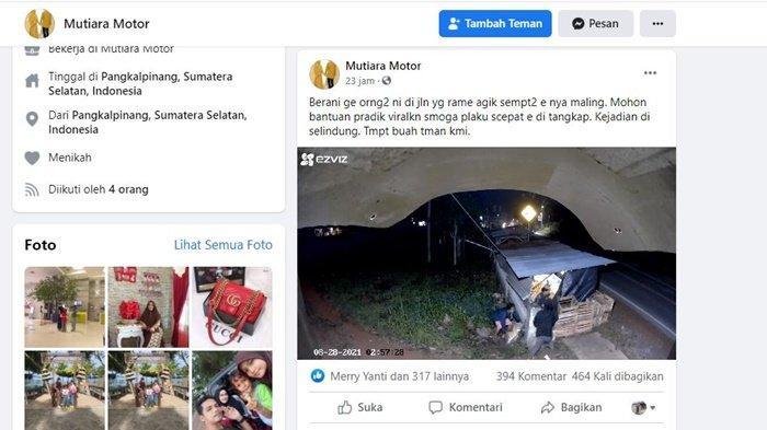 Viral Aksi Pencuri Toko Buah di Selindung Pangkalpinang Terekam CCTv, Ini Kata Polisi