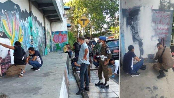 Mural mirip Jokowi di Pangkalpinang dihapus