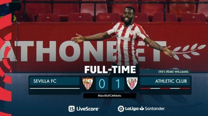 Athletic Bilbao Taklukan Sevilla Skor 1-0, Gol Semata Wayang Dicetak Inaki Williams