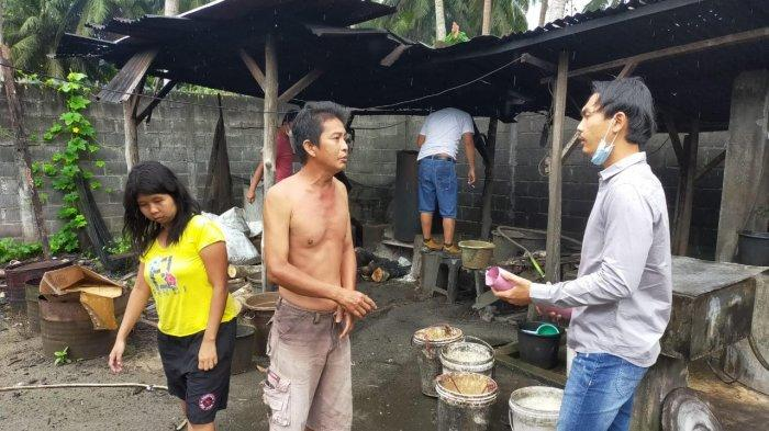 Pabrik Arak Milik Ka Pin di Pemali Digrebek Buser Polres Bangka