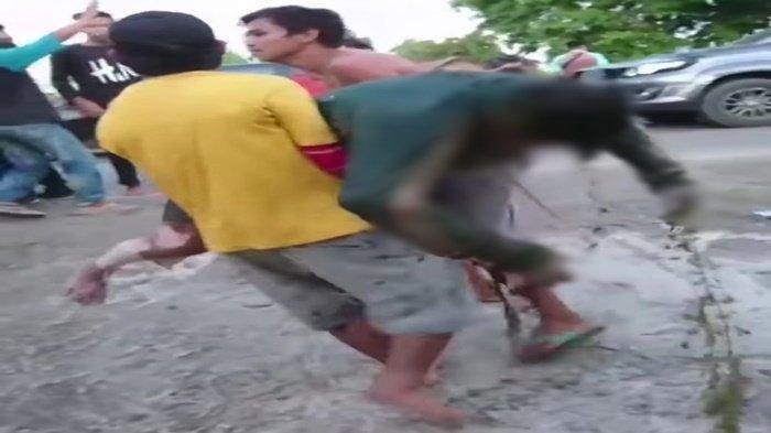 Sesosok Mayat Ditemukan Posisi Tengkurap di Sungai