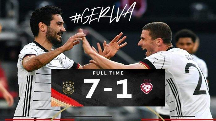 Jelang Euro 2020 Laga Friendly Match, Timnas Jerman Menggasak Latvia Skor 7-1