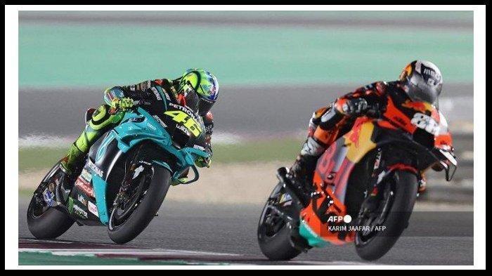 Kibarkan Bendera Perang, Rossi Coba Performa Yamaha M1, Optimis Pada Balapan MotoGP Doha 2021