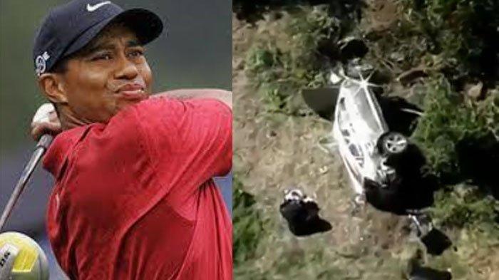 Tragedi Kecelakaan Mobil Tiger Woods Legenda Golf Dunia, Pacu Kendaraan Dalam Kecepatan Tinggi