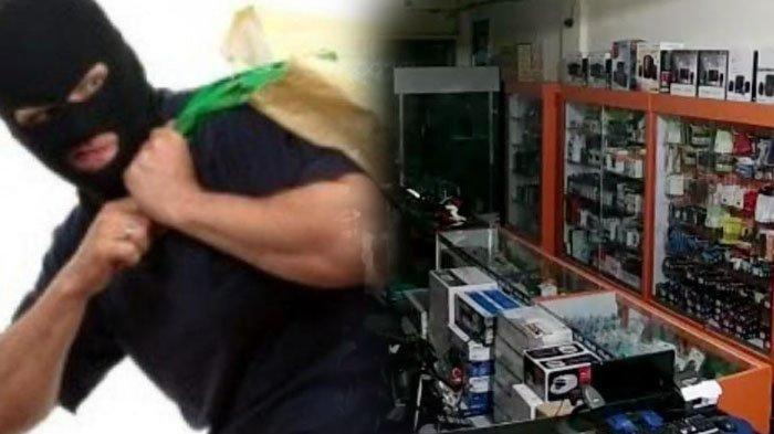 Kawanan Pencuri Asyik Masukan Laptop Dalam Karung, Pegawai Toko Tidur Nyenyak Dilantai 2
