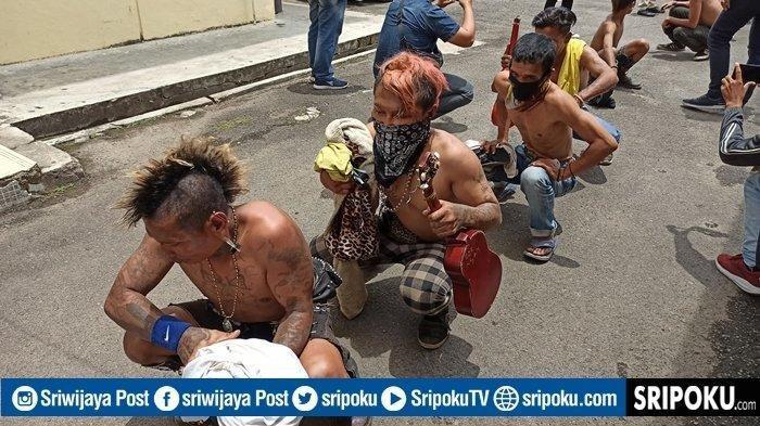 Unit Jatanras Polda Sumsel Minimalisir Aksi Premanisme, Puluhan Preman Digelandang ke Mapolda