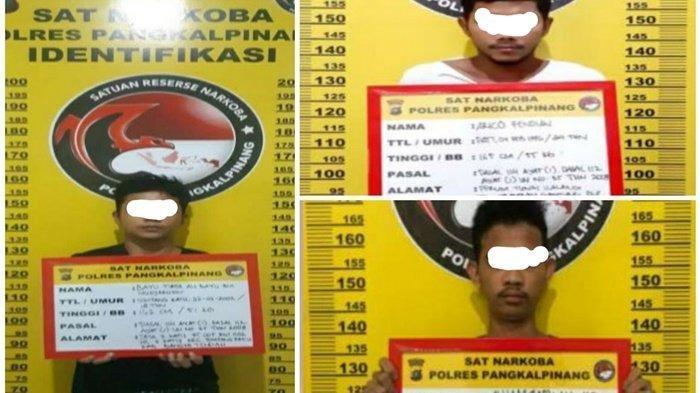Polisi Amankan Tiga Pelaku Penyalahguna Narkoba, Ditangkap Dari Lokasi Berbeda