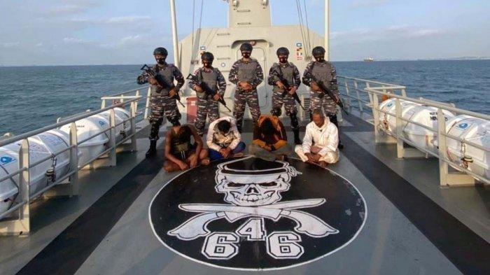 KRISiwar-646 Pergoki Pelaku Naik ke Atas Tongkang, 5 Perompak Berhasil Ditangkap Berikut Dua Perahu