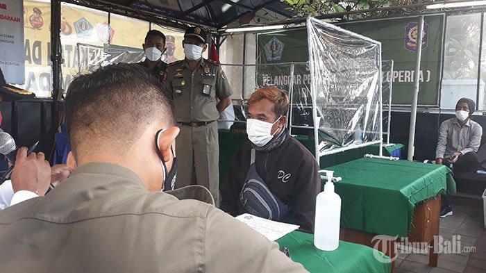 1 Toko Seluler di Denpasar Didenda Rp1 Juta, Hari Ini 6 Pelanggar Disidang di Pos Penyekatan Umanyar
