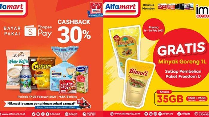 11 Promo Alfamart Minggu Ini, Minyak Goreng Gratis, Bayar Pakai ShopeePay Cashback 30%