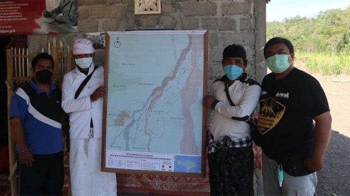 Berada di KRB Gunung Agung, 2 Dusun di Desa Ban Karangasem Lakukan Penyusunan Peta Risiko Bencana
