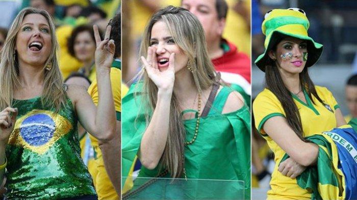 Puasnya Suporter Brasil Bernyanyi untuk Lionel Messi Cs