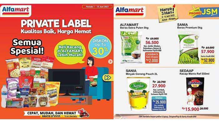 BARU! 5 PROMO Alfamart Minggu 6 Juni 2021: Aneka Merk Susu, Kopi, Minyak Goreng, Beras Turun Harga
