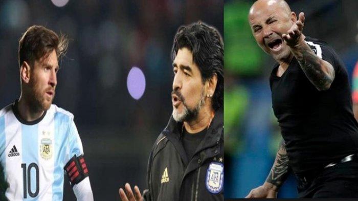 Diterpa Isu Perpecahan, Maradona Marah dan Ngotot Ingin Bertemu Messi Cs