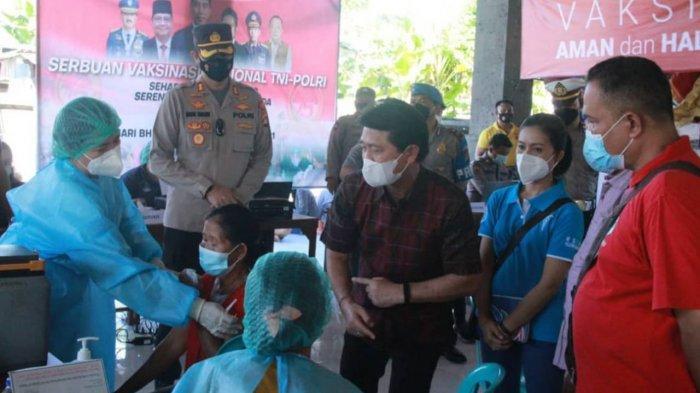 Lebih Dari 700 Warga di Klungkung Ikuti Vaksinasi Massal di Desa Tangkas