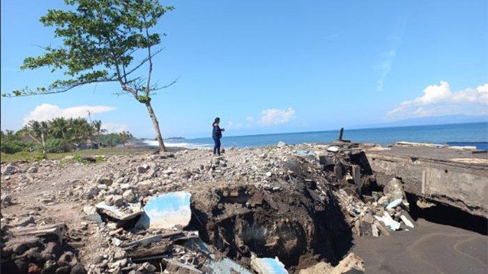 Kian Parah hingga Ancam Permukiman Warga, Abrasi Pesisir Tegal Besar Klungkung Tak Kunjung Ditangani
