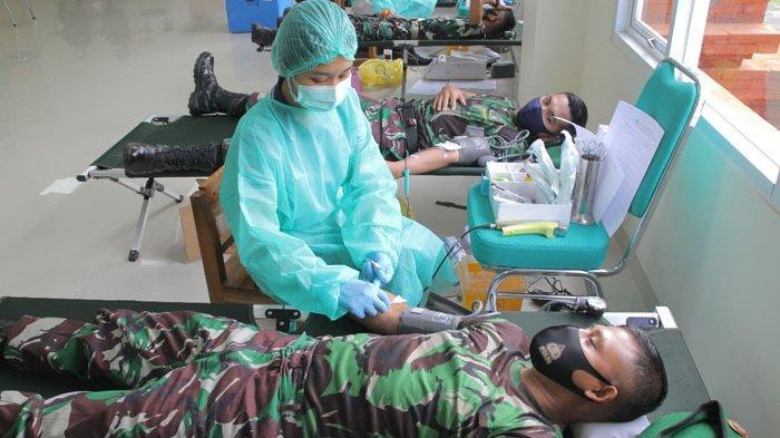 464 Prajurit Kodam IX/Udayana Penyintas Covid-19 Telah Donorkan Plasma Darahnya