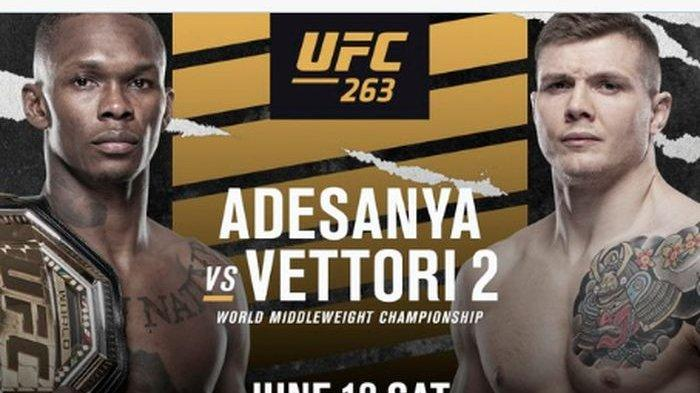 Hasil UFC 263 : Israel Adesanya Lagi-lagi Berhasil Kalahkan Marvin Vettori
