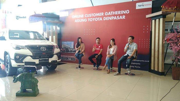 Agung Toyota Denpasar Gelar Virtual Gathering Customers,Tebar Bunga 0 Persen Hingga Subsidi Trade-in