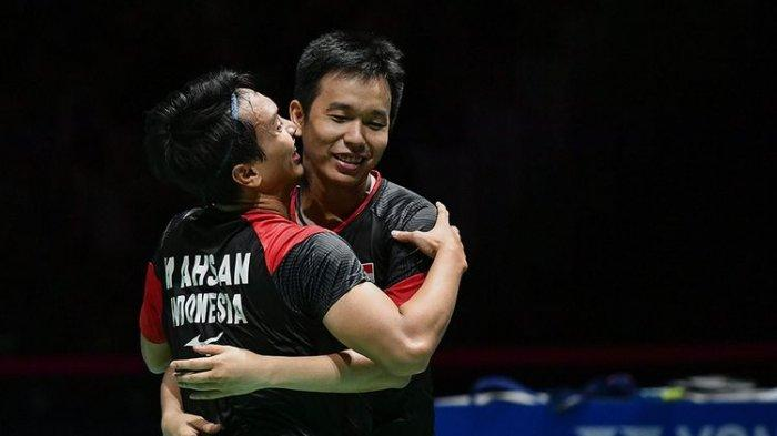 Hasil BWF World Tour Finals, Mohammad Ahsan/Hendra Setiawan ke Final Setelah Kalahkan Ganda Korea