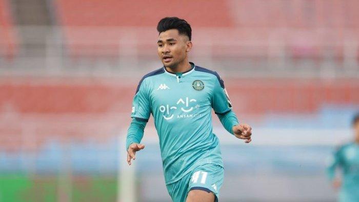 Asnawi Mangkualam Jalani Debut Bersejarah di K-League 2, Ansan Greeners FC Imbangi Busan IPark 1-1