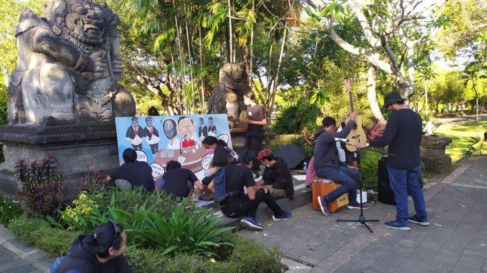 Aksi Damai Aliansi BEM se-Bali Sampaikan Kritik Terhadap Pemerintah