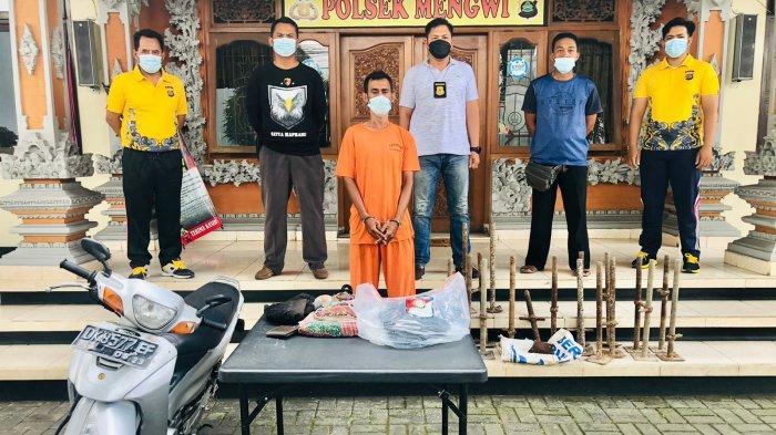 Curi Jack Base Scaffolding di Sempidi Badung, Pria Asal Kupang Diringkus Polisi