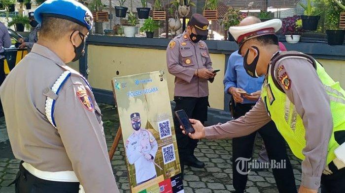 Mulai Hari Ini 14 September 2021 Masuk Kantor Polisi di Jembrana Wajib Pakai Aplikasi PeduliLindungi