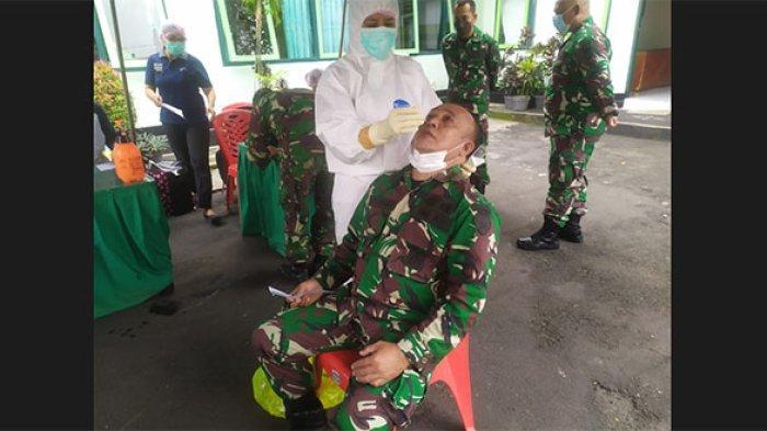 Anggota TNI AD di Tabanan Jalani Tes Antigen Massal, Semua Negatif