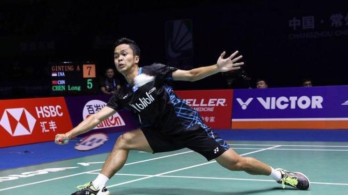 Hasil Final China Open, Kento Momota Juara Tunggal Putra Setelah Kalahkan Anthony Ginting
