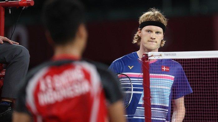 Antonsen Beri Dukungan Penuh Anthony Ginting 'Si Pembunuh Raksasa' di Semifinal Olimpiade Tokyo 2021