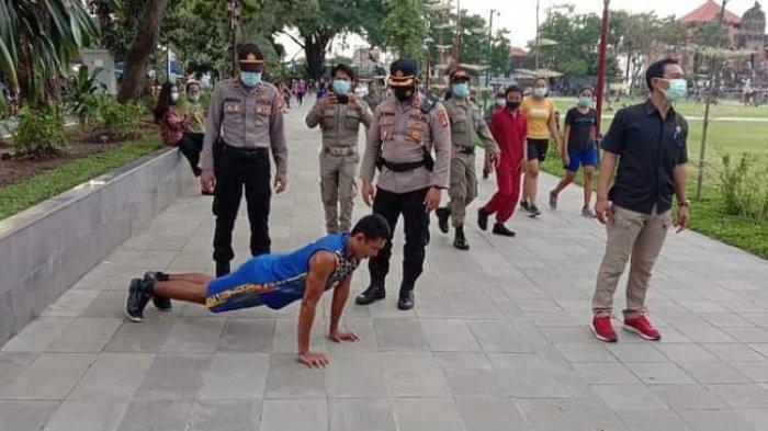 Alun-Alun Gianyar Bali Selalu Ramai Membuat Aparat Kewalahan, Seusai Sidak Kerumunan Kembali Terjadi