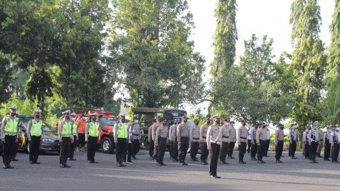 Polres Jembrana Gelar Apel Kesiapan Operasi Ketupat Agung, Wibawa: Personel 265 yang Kami Terjunkan