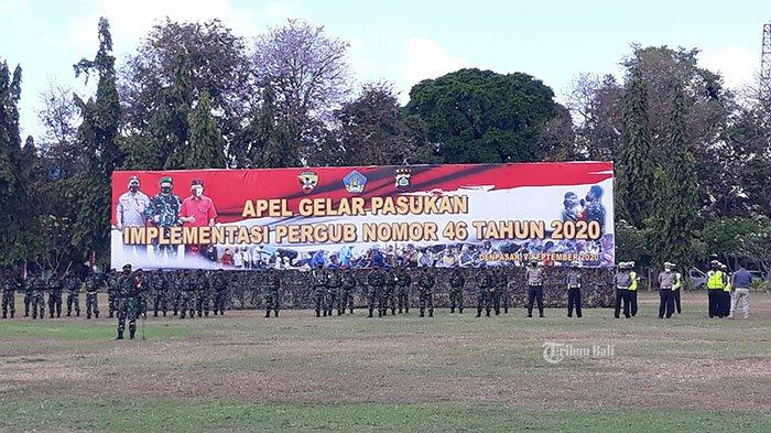 Apel Gelar Pasukan Tandai Berlakunya Sanksi Pelanggar Protokol Kesehatan di Bali