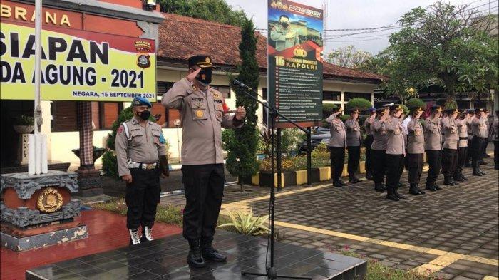 Polres Jembrana Gelar Operasi Bina Waspada Agung 2021, Akan Digelar Hingga 12 Hari Kedepan