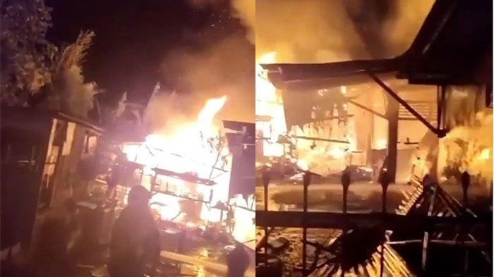 Kebakaran Hebat di Kerobokan Kuta: Api Hanguskan 15 Ekor Babi, Mobil dan Motor Milik Nyoman Widiana