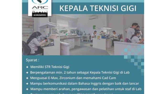 Lowongan Kerja di Kuta, ARC Dental Membutuhkan Kepala Teknisi Gigi