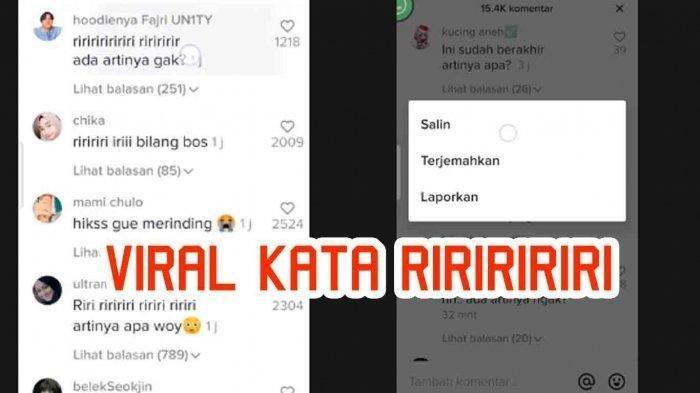 Viral di TikTok, Riririri Jika Diterjemahkan Artinya Bikin Merinding