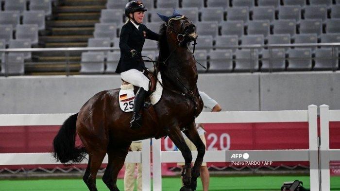Miris, Pelatih Asal Jerman Ini Diusir dari Olimpiade Tokyo 2021 Gegara Memukul Kuda Saint Boy